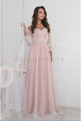 Выпускное платье с рукавами Rachelle DM-1020