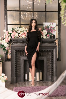 Evening dress with sleeves Aziza DM-1028