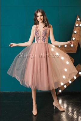 Evening MIDI dress with full skirt Kelly DM-1015
