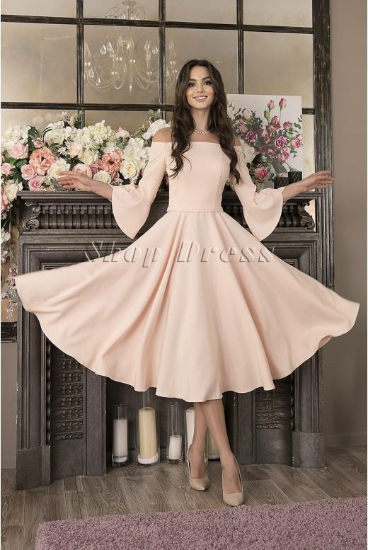 Вечернее платье миди с рукавами Sienna DM-993