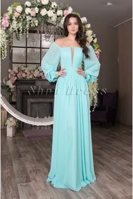 Вечернее длинное платье с рукавами Simone DM-1035