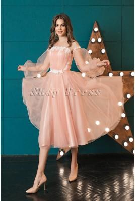 Вечернее платье миди Leslie DM-1045