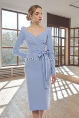 Коктейльное платье миди с длинными рукавами Daniela DM-1065