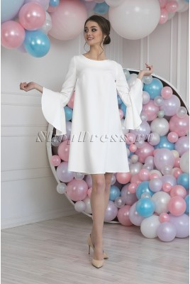 Short Wedding Dress with Sleeves Blanca MS-1021