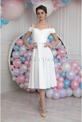 Wedding dress midi Linda MS-1027