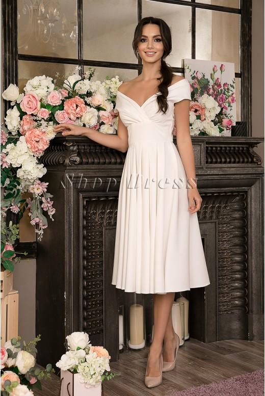 Свадебное платье миди Yvette  MS-1033