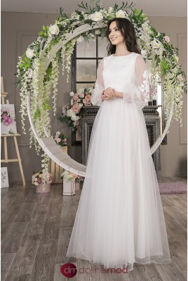 Wedding Dress with puffy sleeves Juliet MS-998