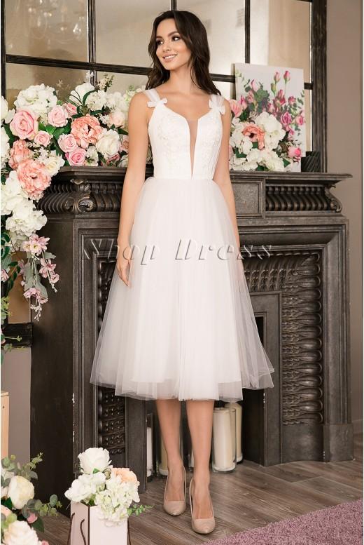 Свадебное платье-миди с пышной юбкой Kelli MS-1015