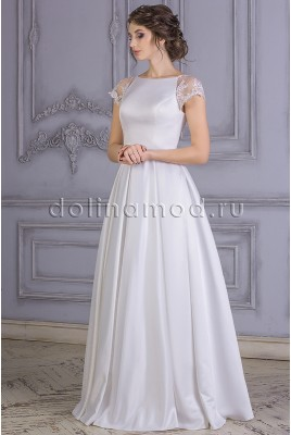 Wedding dress with sleeves-Raglan Margarita MS-861
