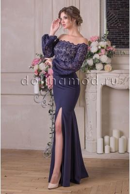 Вечернее платье с рукавами Emma CM-905