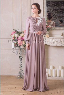 Evening dress with sleeves Milena CM-913