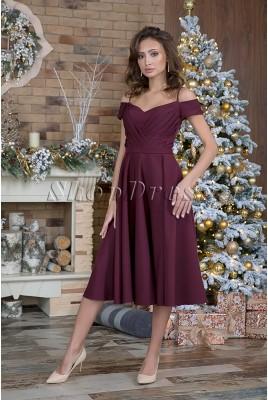 Вечернее платье миди Linda DM-1027