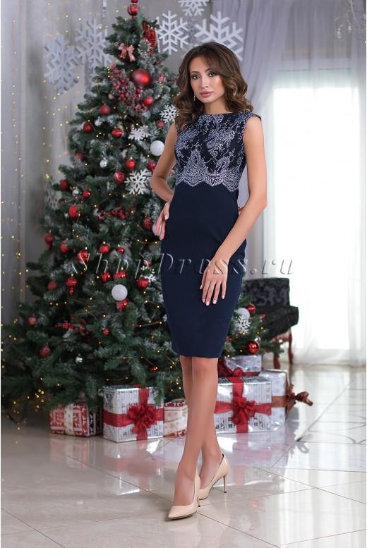 Вечернее платье-футляр Alessandra DM-979