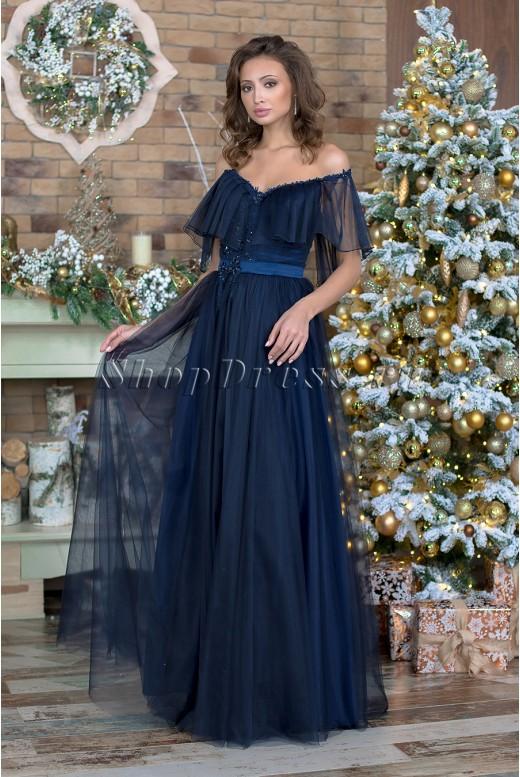 Вечернее длинное пышное платье  Marisabel DM-987