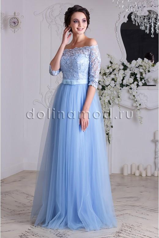 Выпускное платье с рукавами DM-837