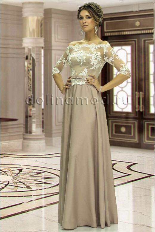 Evening dress with sleeves Alberta DM-841