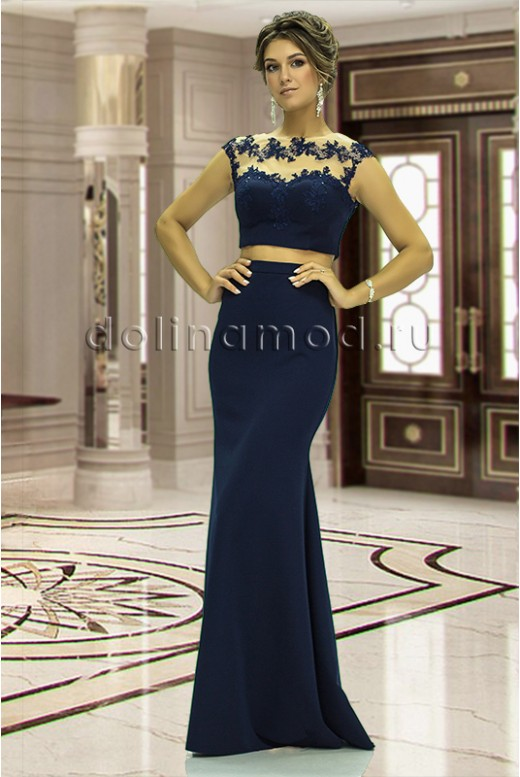 Вечернее платье кроп топ July  DM-843