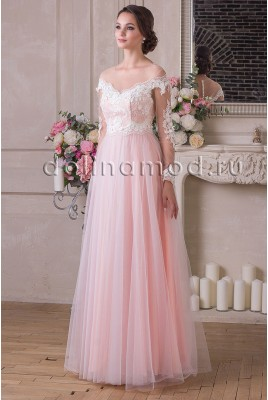 Evening dress with sleeves Suzanne DM-916