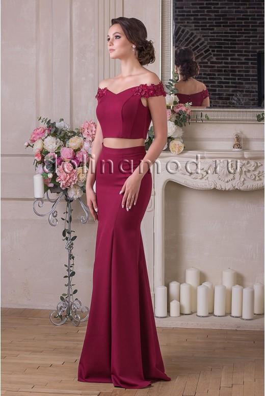 Evening dress crop top Renata DM-922