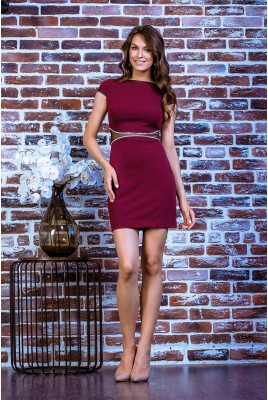 Короткое коктейльное платье SD-7017