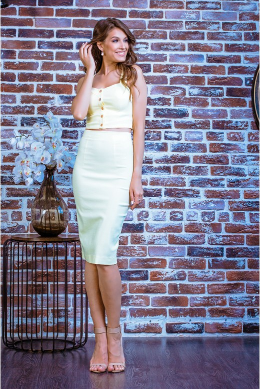 Повседневное платье кроп-топ с юбкой карандаш SD-7000