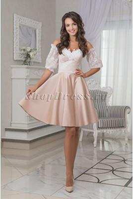 Короткое вечернее платье со съемными рукавами Maya DM-995