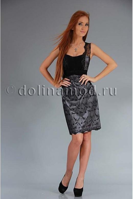 Коктейльное кружевное платье DM-370