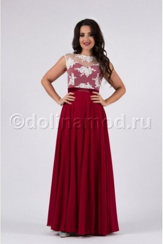 Выпускное платье с лифом из кружева DM-784