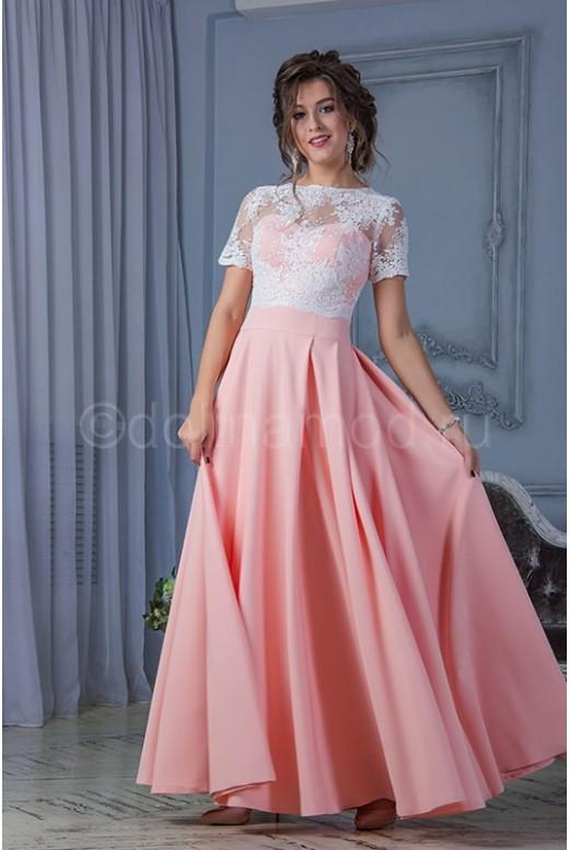 Выпускное платье с лифом из кружева DM-789