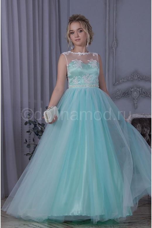 Платье на выпускной с пышной юбкой DM-795