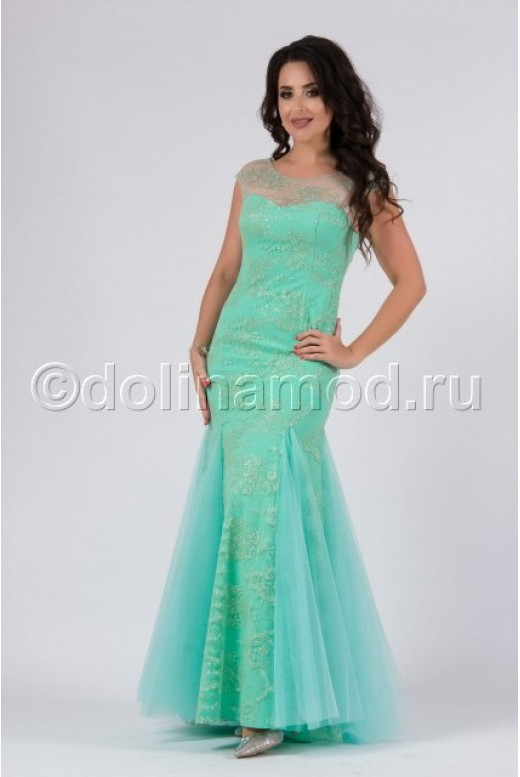 Кружевное платье рыбка DM-817