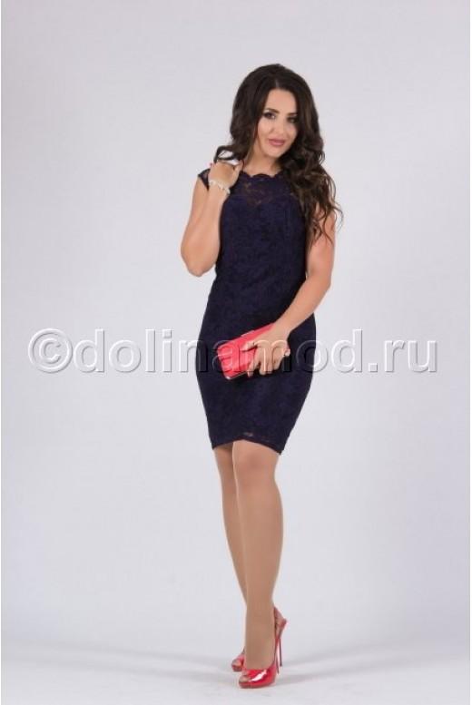 Коктейльное платье-футляр DM-819