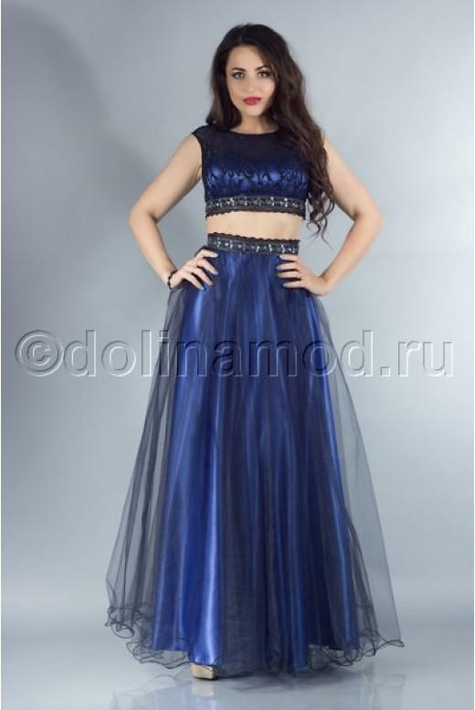 Платье кроп топ на выпускной DM-756