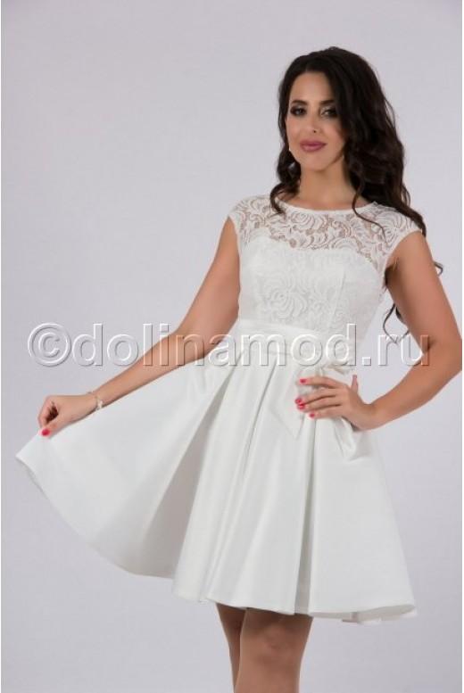 Платье короткое с кружевом DM-761