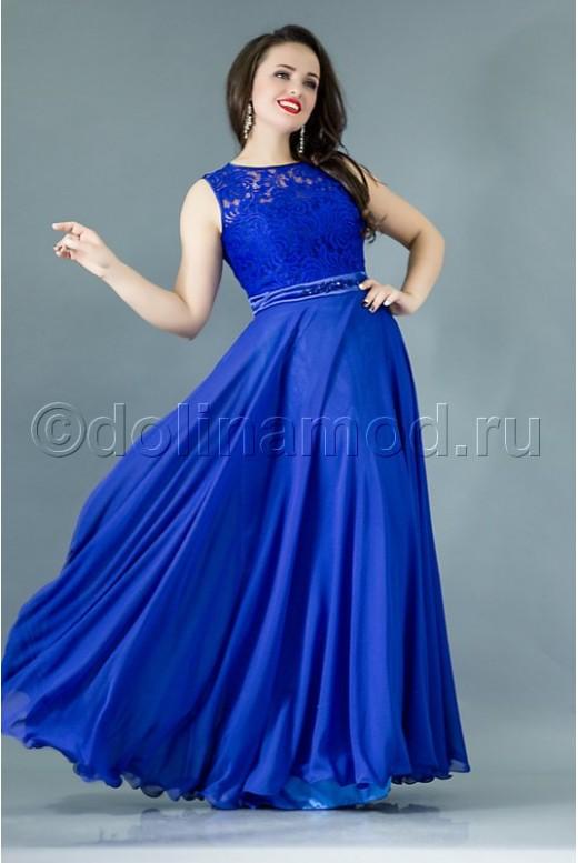 Платье верх кружево низ шифон DM-759