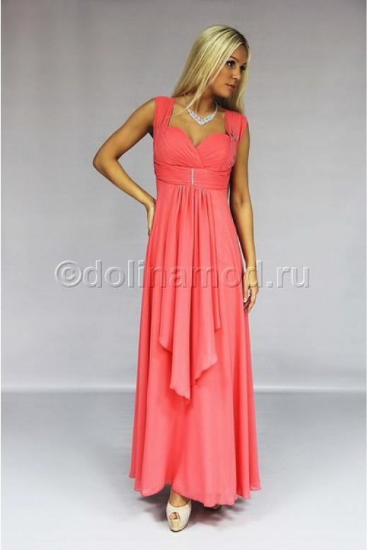 Длинное шифоновое платье ампир