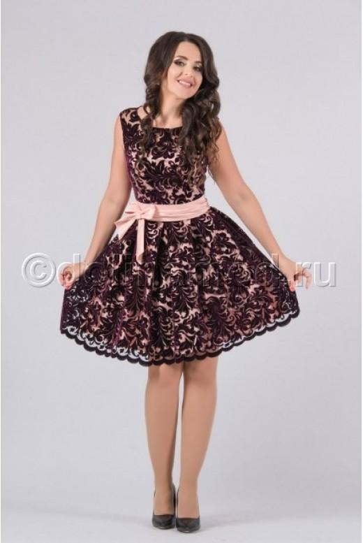 Платье на выпускной короткое пышное DM-779