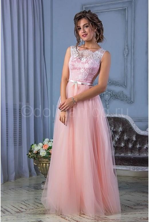 Выпускное платье с фатиновой юбкой DM-800