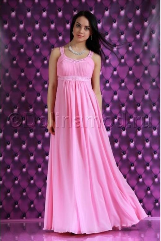 Длинное шифоновое платье DM-515