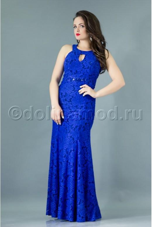 Платье рыбкой с открытой спиной DM-764