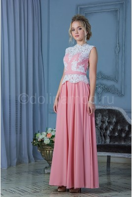 Платье вечернее с баской DM-781