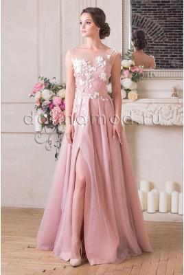 Вечернее платье с рукавами Leticija  VM-894
