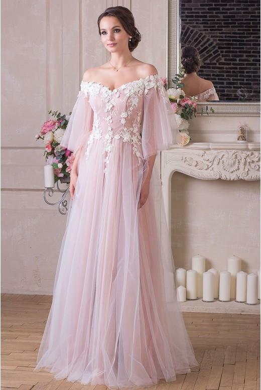 Вечернее платье с рукавами Adelina VM-906