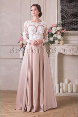 Вечернее платье с рукавами Vivian  VM-909