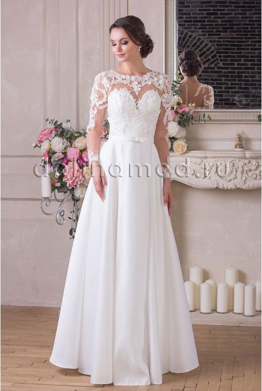 Свадебное платье с рукавами Vivian MS-909