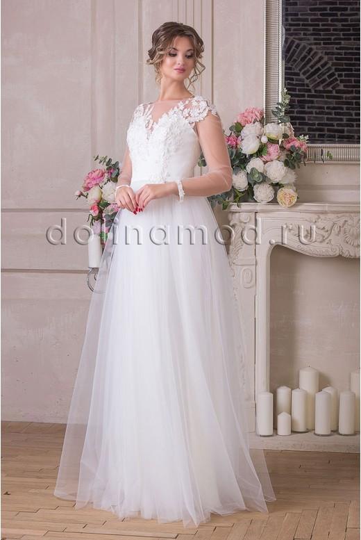 Свадебное платье с рукавами Nicole  MS-914