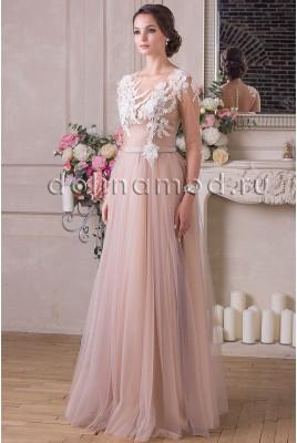 Вечернее платье с рукавами Nicole VM-914
