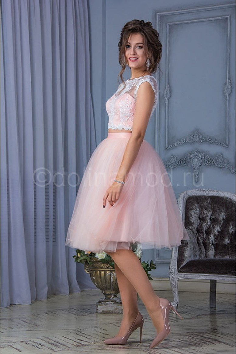 7077b8d7166 Купить кроп топ выпускное платье DM-816 в интернет магазине ShopDress.ru