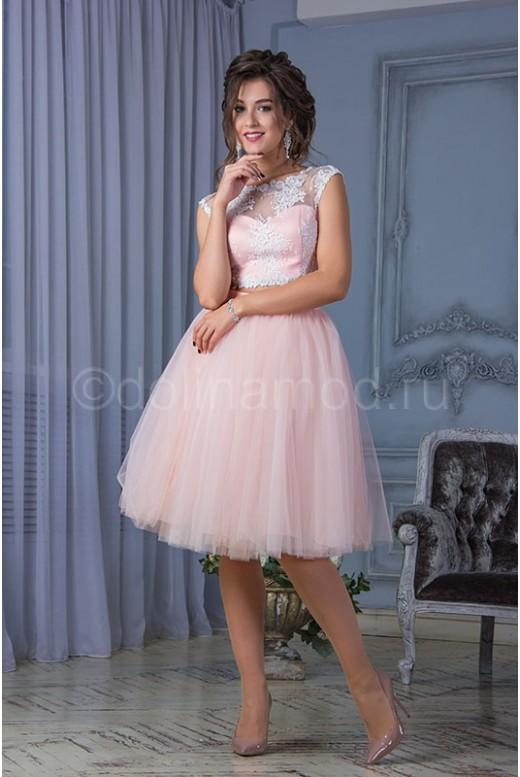 Кроп топ выпускное платье DM-816