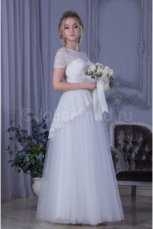 Свадебное платье с баской DM-806
